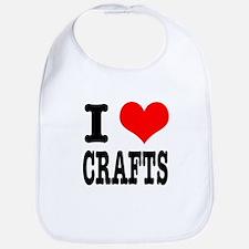 I Heart (Love) Crafts Bib