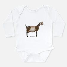 Nubian Dairy Goat Long Sleeve Infant Bodysuit