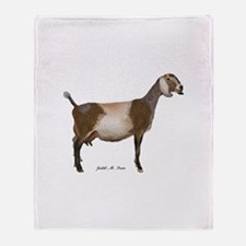 Nubian Dairy Goat Throw Blanket