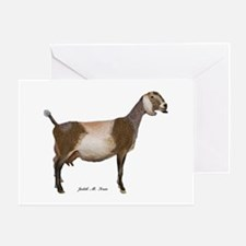 Nubian Dairy Goat Greeting Card