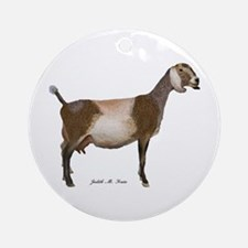 Nubian Dairy Goat Ornament (Round)