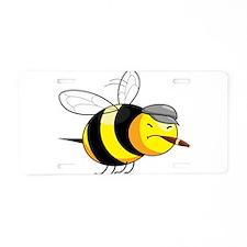 Cigar Bee Aluminum License Plate