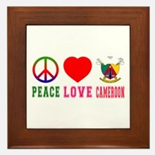 Peace Love Cameroon Framed Tile