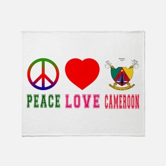 Peace Love Cameroon Throw Blanket