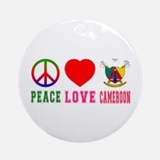 Peace Love Cameroon Ornament (Round)