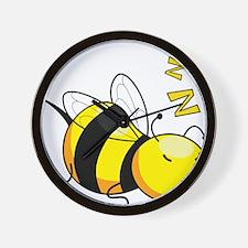 Bee Nap Wall Clock