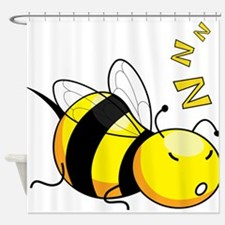 Bee Nap Shower Curtain