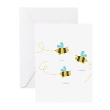 Bee Trio Greeting Cards