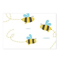 Bee Trio Postcards (Package of 8)