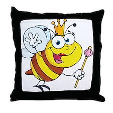 Queen Bee-2 Throw Pillow