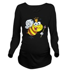 Queen Bee-2 Long Sleeve Maternity T-Shirt