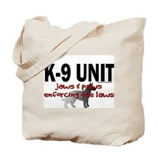 K9 UNIT: Jaws & Paws Tote Bag