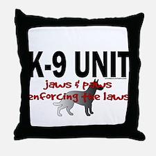 K9 UNIT: Jaws & Paws Throw Pillow