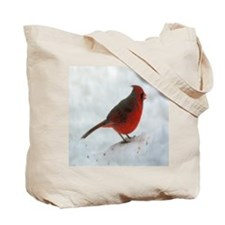 Snow Cardinal Tote Bag