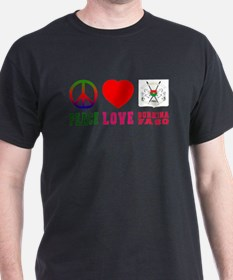 Peace Love Burkina Faso T-Shirt