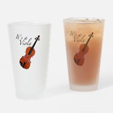 Viola / Violin at an Angle Drinking Glass
