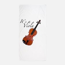 Viola / Violin at an Angle Beach Towel
