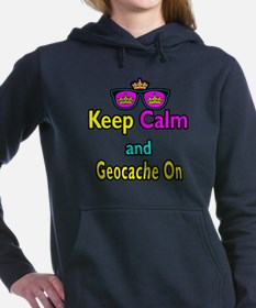 Crown Sunglasses Keep Calm And Geocache On Hooded