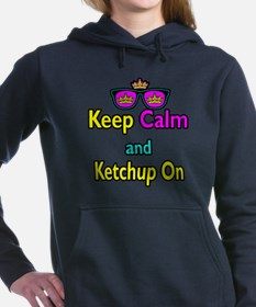 Crown Sunglasses Keep Calm And Ketchup On Hooded S