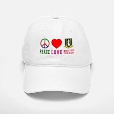 Peace Love British Virgin Islands Baseball Baseball Cap