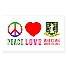 Peace Love British Virgin Islands Decal