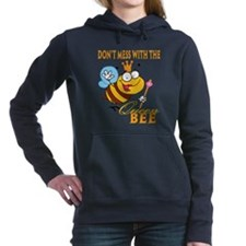 dont mess with the queen bee funny cartoon Hooded