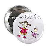 """Big cousin button 2.25"""" Round"""