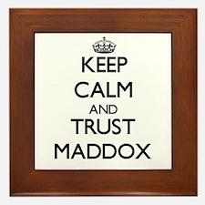 Keep calm and Trust Maddox Framed Tile