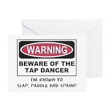 Beware of Tap Dancer Greeting Cards (Pk of 10)