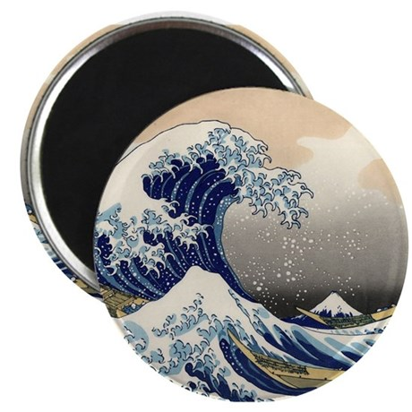 The Great Wave by Hokusai Magnets