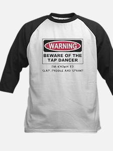 Beware of Tap Dancer Kids Baseball Jersey