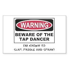 Beware of Tap Dancer Rectangle Decal