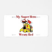 My Super Hero Wears Red Aluminum License Plate
