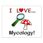 I Love Mycology Small Poster