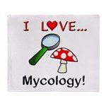 I Love Mycology Throw Blanket