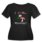 I Love Mycology Women's Plus Size Scoop Neck Dark
