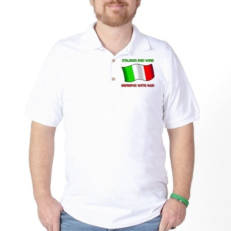 Italians And Wine Improve Wi Golf Shirt