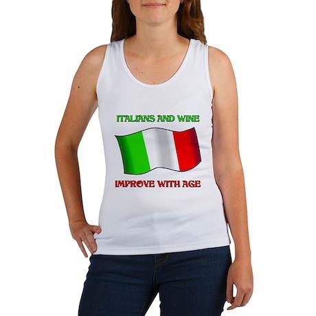 Italians And Wine Improve Wi Women's Tank Top