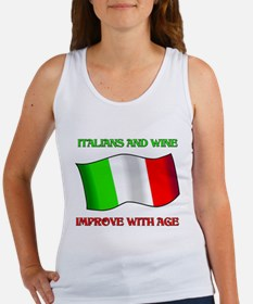 Italians And Wine Improve Wi Women's Tank Top
