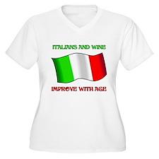 Italians And Wine Improve Wi T-Shirt