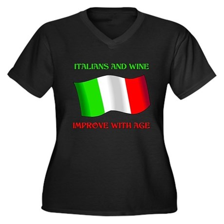 Italians And Wine Improve Wi Women's Plus Size V-N