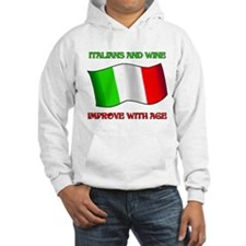 Italians And Wine Improve Wi Hoodie