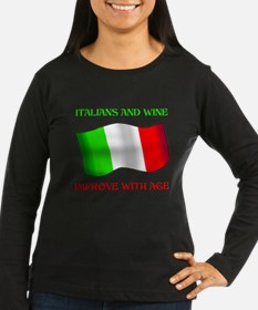 Italians And Wine Improve Wi T-Shirt
