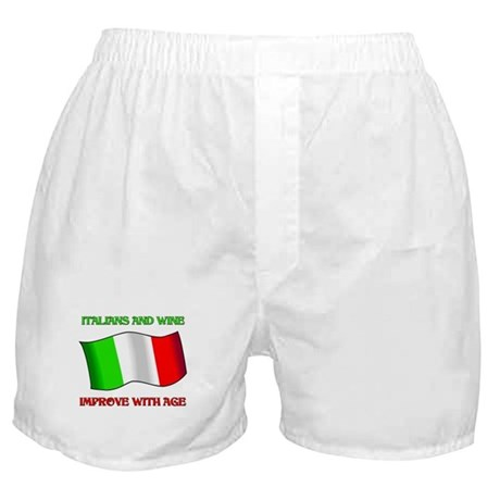 Italians And Wine Improve Wi Boxer Shorts