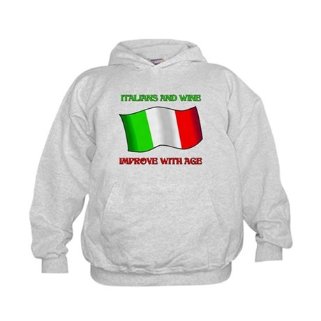 Italians And Wine Improve Wi Kids Hoodie