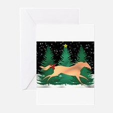 Running horse Greeting Cards