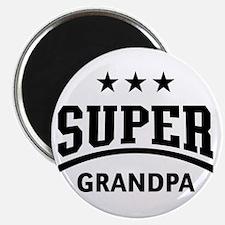 Super Grandpa (Black) Magnet