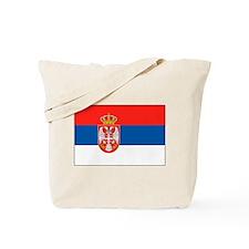 Cute Serbian flag Tote Bag