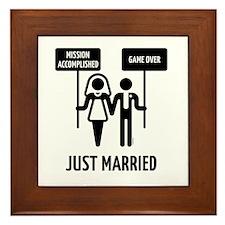 Just Married – Mission Accomplished –  Framed Tile