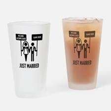 Just Married – Mission Accomplished Drinking Glass